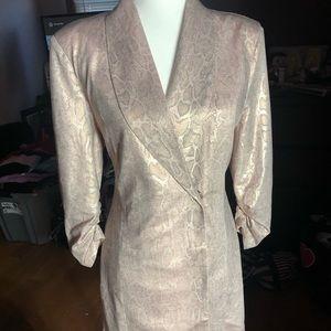Fashion Nova snake skin pink jacket dress